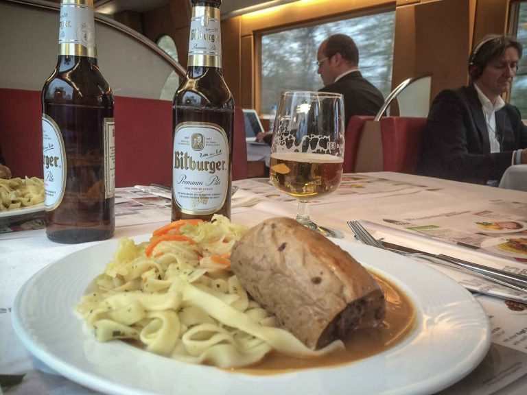 Tysk middag på tysk tog!