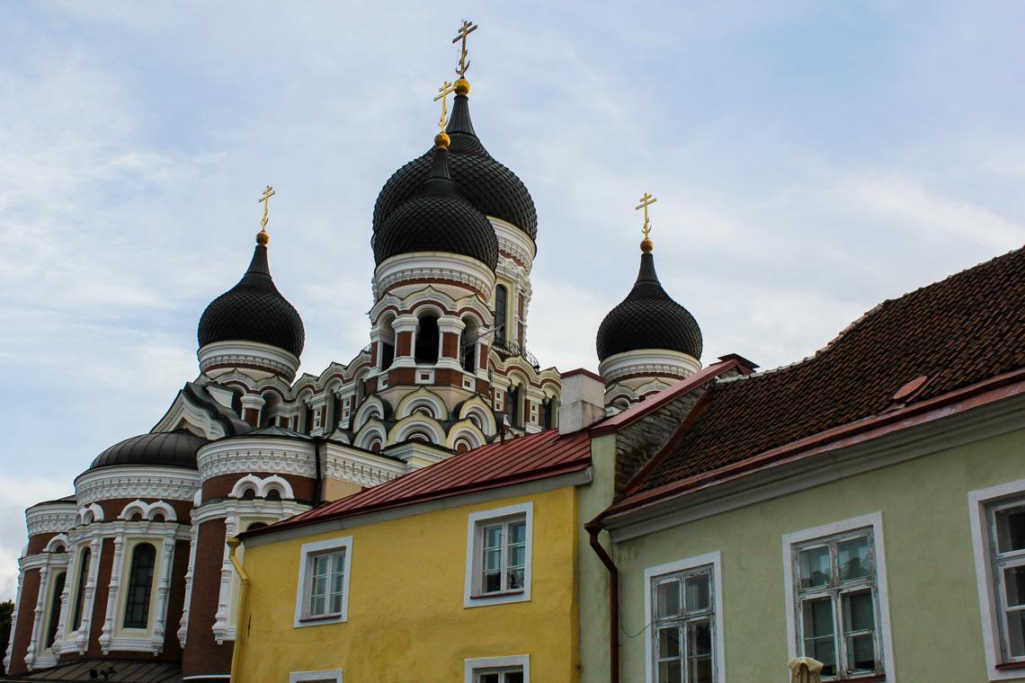 Alexsander Nevskij katedralen er et velkjent landemerke i Tallin.