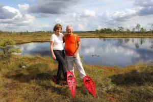Vi tok toget fra Tallin og havnet på truger i myra i Soomaa nasjonalpark.