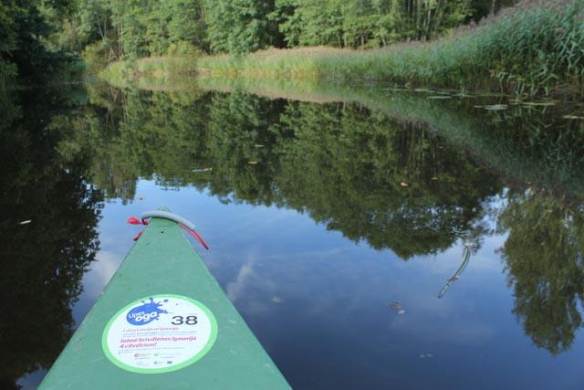 Vi tar siste etappe med kano, tilbake til Risa i Soomaa nasjonalpark.