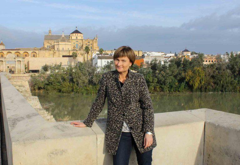 Vi reiste med tog fra Berlin til Malaga, via Paris, Barcelona og Cordoba. Her et bilde fra den romerske broen i Cordoba.