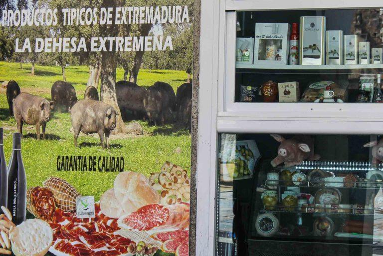 I Extremadura er grisene svarte og lever av eikenøtter. I Caceres møter du dem på plakater og på tallerkenen.