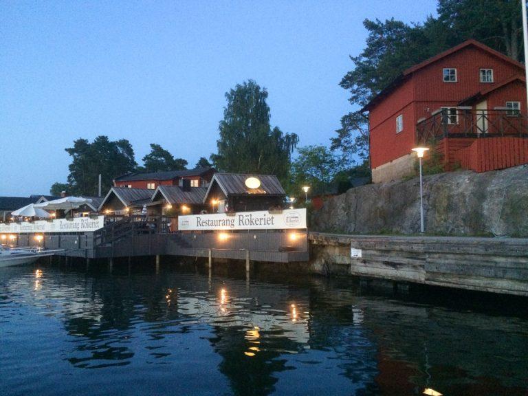 Fjäderholmerna - helt riktig sted å være en varm sommerkveld i Stockholm.