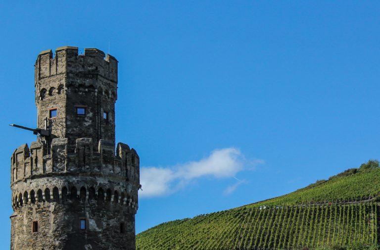 Turen med tog og båt på Rhinen i et nøtteskall: Borger og vinmarker