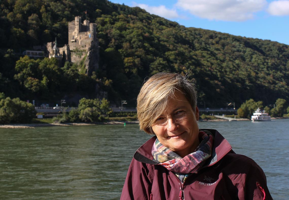Rutebåt på Rhinen er en billig og fin måte å reise på.