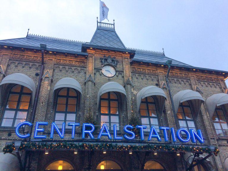 Første stopp på rundturen, Gøteborg Centralstation.