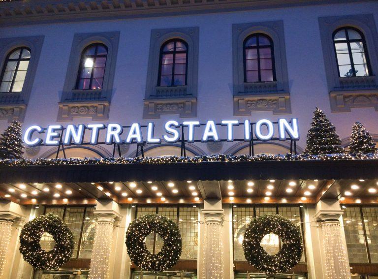 Jul på Centralen, Stockholm.