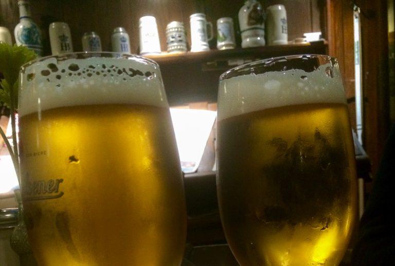 En velfortjent øl i Hamburg.