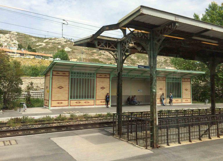 L'Estaque - ett av stedene toget fra Marseille til Miramas stopper.