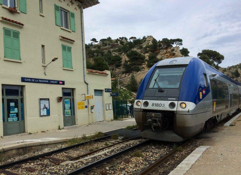 Jernbanestasjonen i La Redonne.