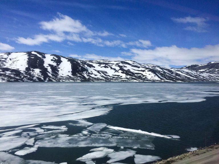Et siste møte med vinteren på Hardangervidda.