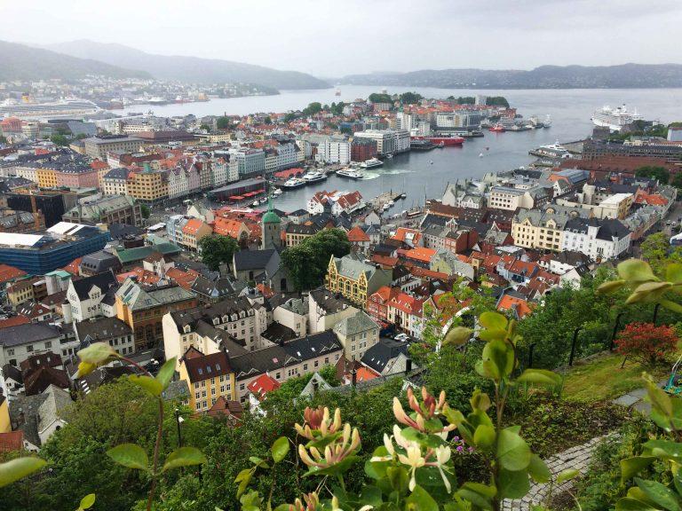 Bergen sett fra Fløyen.