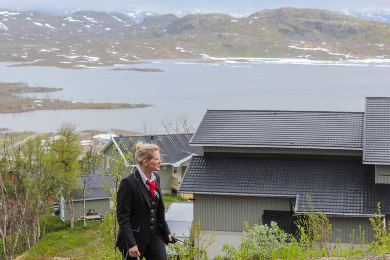Et kort stopp nær riksgrensen på strekningen Kiruna-Narvik.