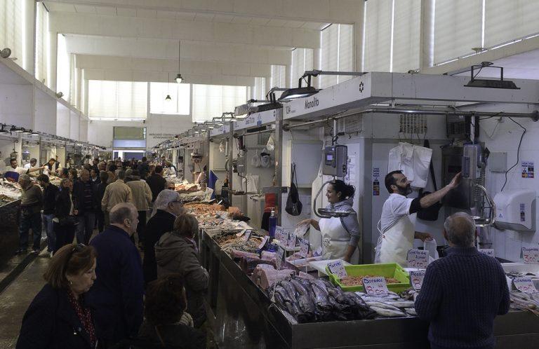 Mercado Central i Cadiz er et ekte fiskemarked.