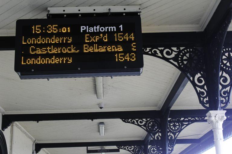 Coleraine jernbanestasjon.