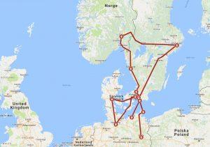 Tog fra Oslo S til Europa sommeren 2018.