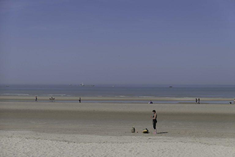 Plass nok til alle her på stranden ved Blankenberge, Belgia.