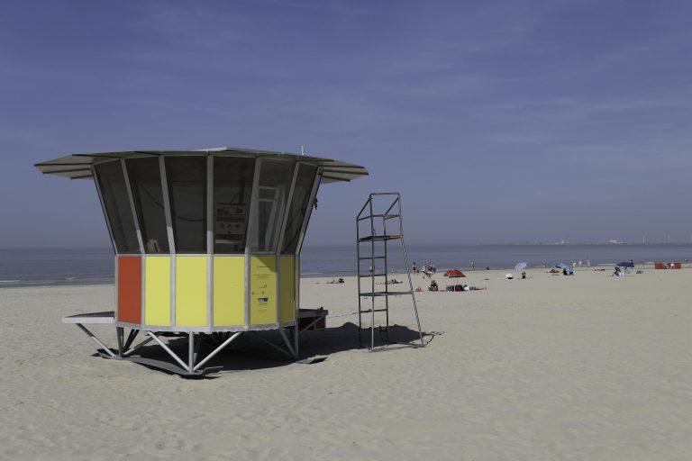 Strandliv, Blankenberge, Belgia.