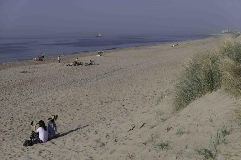En vakker strand ved De Haan Zwarte Kiezel.elgiske kysten.