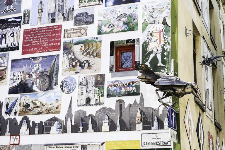Gents historie samlet på en vegg.