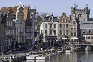 Gamlebyen i Gent - historiske kulisser, frodig folkeliv.