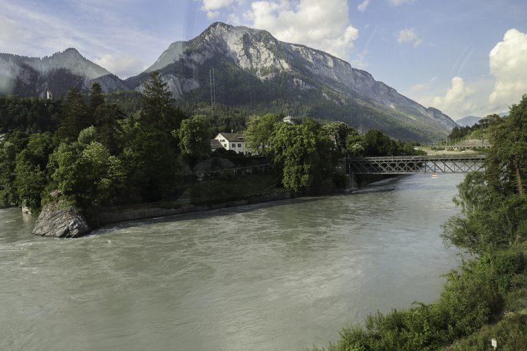 Rhinen sett fra Bernina Express.