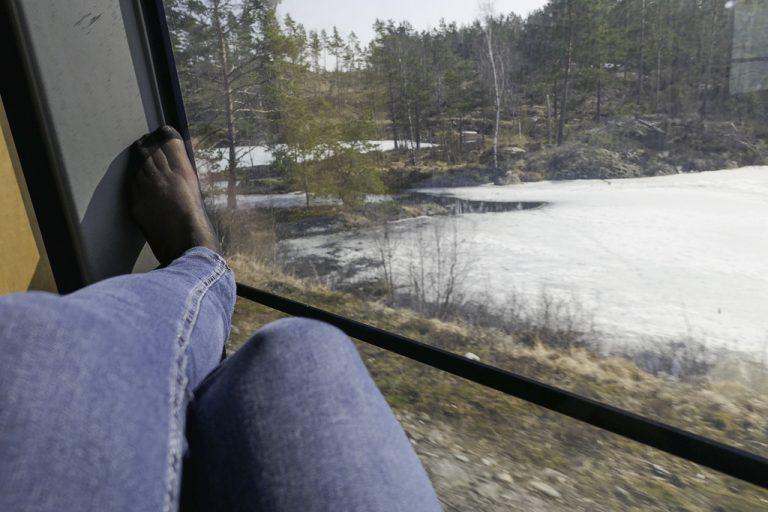 Så bra kan en ha det underveis på en reise med tog fra Oslo til London.. Her på NSBs tog til Göteborg.