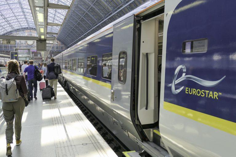 Siste etappe med tog til London: Eurostar.