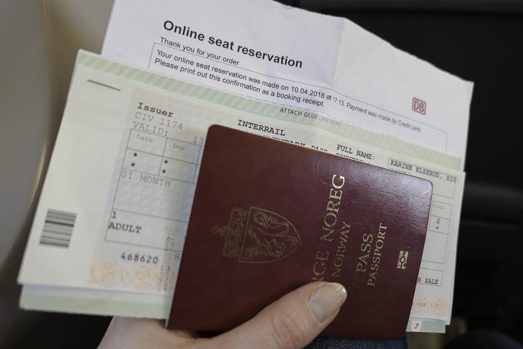 Pass, Interrail-billett og plassreservasjon.