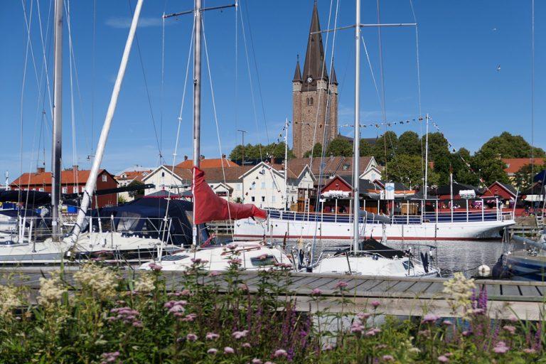 Småbåthavnen i Mariestad.