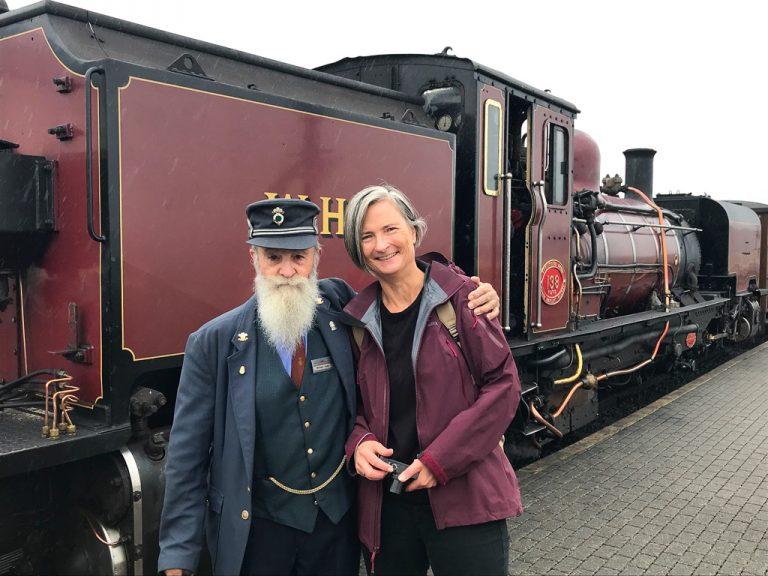 Morsomt å være togblogger blant togentusiaster i Wales!