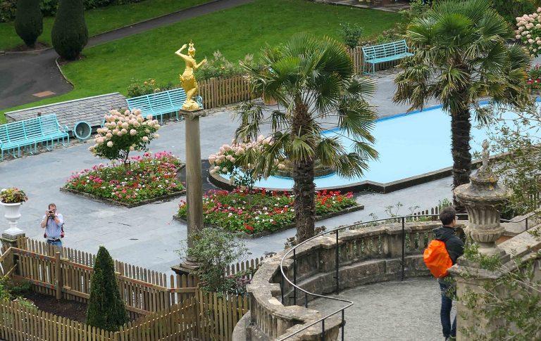Den italienske eventyrbyen Portmeirion i Nord-Wales.