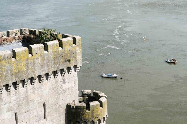 Utsikt fra Conwy Castle, Wales.