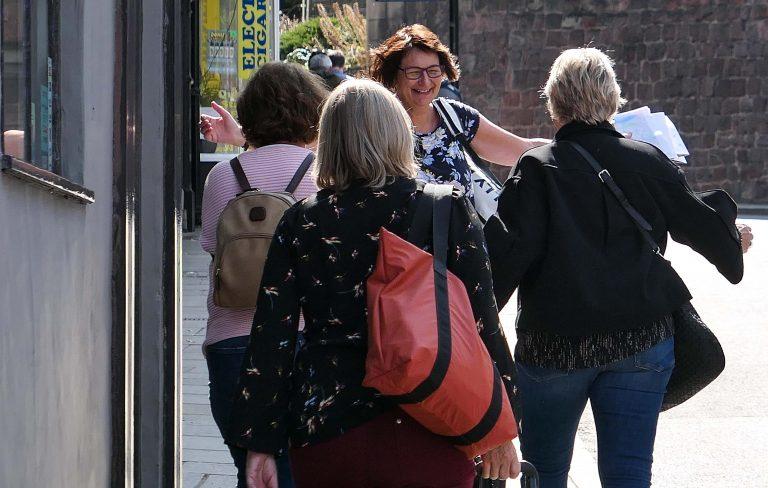 Hjertelig møte i Shrewsbury. Gjengen er samlet!
