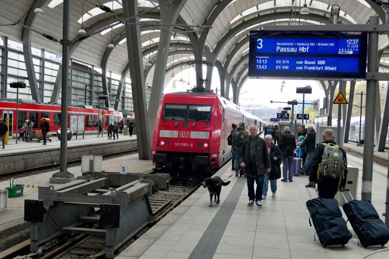 Et annet godt alternativ videre fra Kiel, er Inter City 2229 retning Passau, avgang fra Kiel kl 12.37.