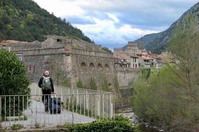 På vei til kveldens overnatting, verdensarvbyen Villefranche de Conflent.