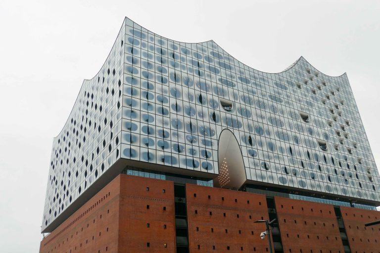 Konserthuset Elbphilarmonien i Hamburg.