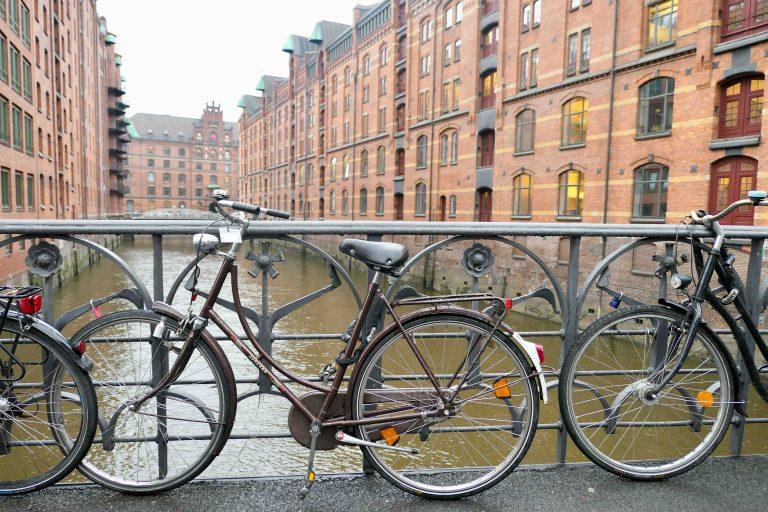 Foto fra Hamburgs havneby.