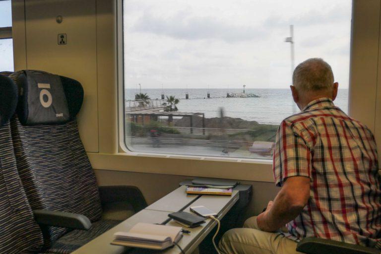 Foto fra en togtur sørover i Europa utenom sesong.
