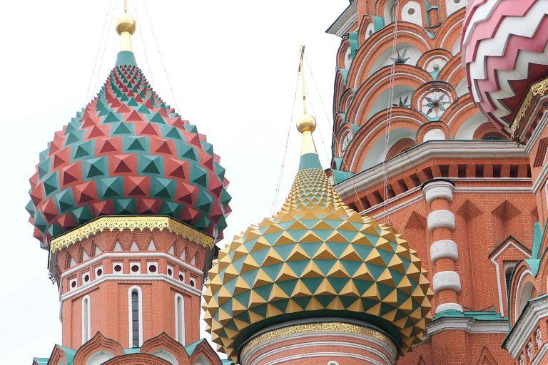 Vasilij-katedralen på Den røde plass. Selvfølgelig det aller første vi må se på vår første tur til Moskva!