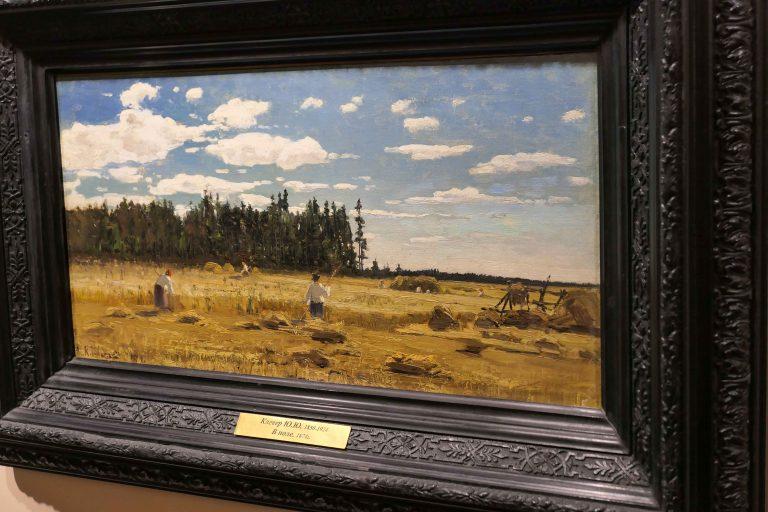 Ett av maleriene vi kunne se i Vladimir-Suzdal-museet: Russisk sommerlandskap.