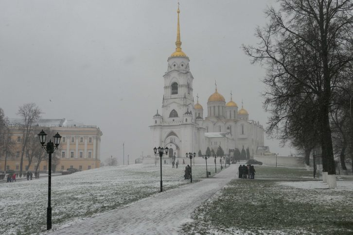 The Cathedral of the Assumtion fotografert en søndag i november, da vi tok en dagstur med tog fra Moskva.