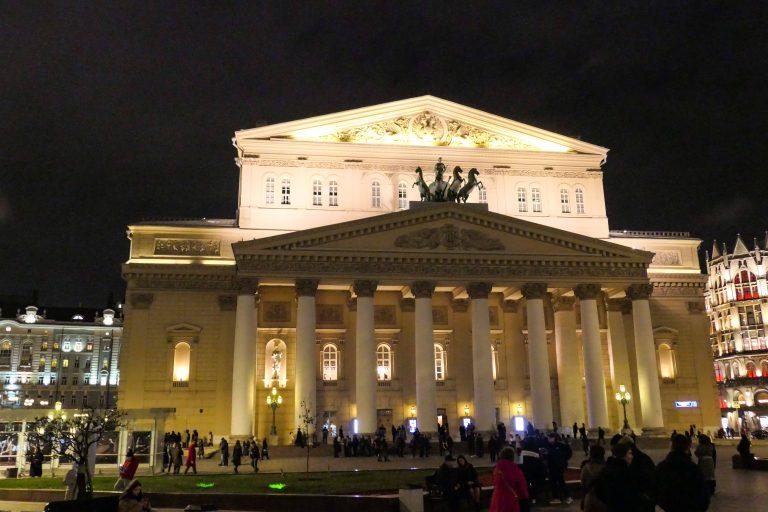 Bolshoi-teatret i Moskva.