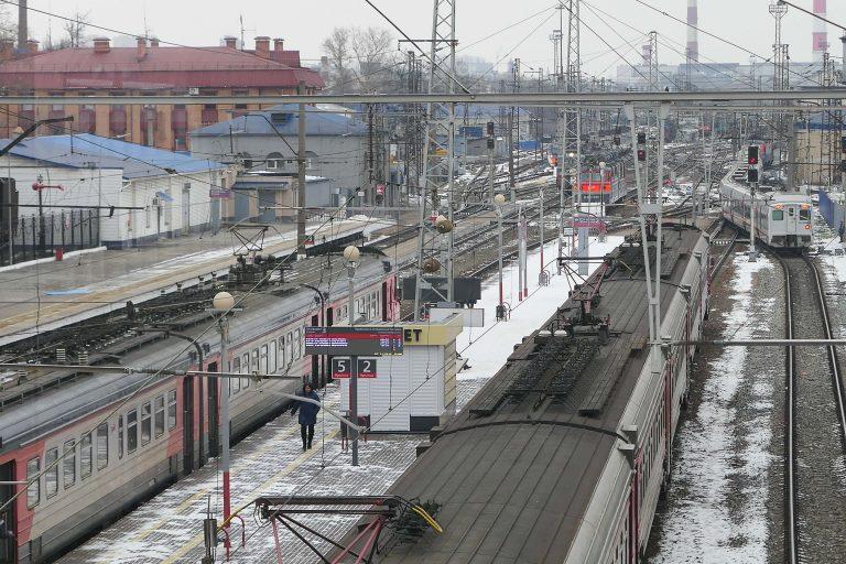 Jernbanestasjonen i Vladimir. I november 2019, da vi var der på en dagstur med tog fra Moskva, var stasjonen under ombygging og oppgradering.
