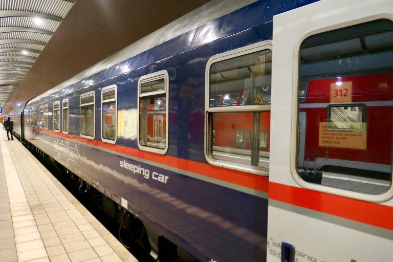 På raskeste rute fra Oslo til Malaga med tog reiser vi med ÖBB Nightjet fra Hamburg til Basel.