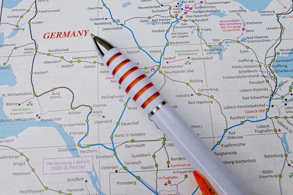 Tyskland er et godt utgangspunkt for billige togbilletter også til andre land.