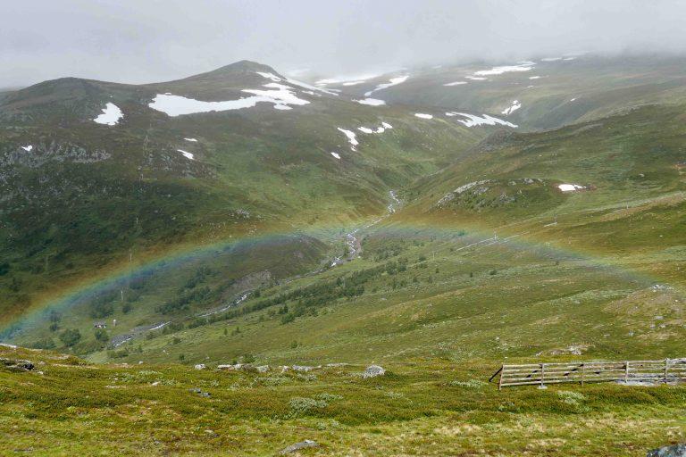 Prestauran (1260 moh) til venstre, til høyre og utenfor bildet Auran (1280 moh) og for den som vil gå langt: hele Trollheimen.