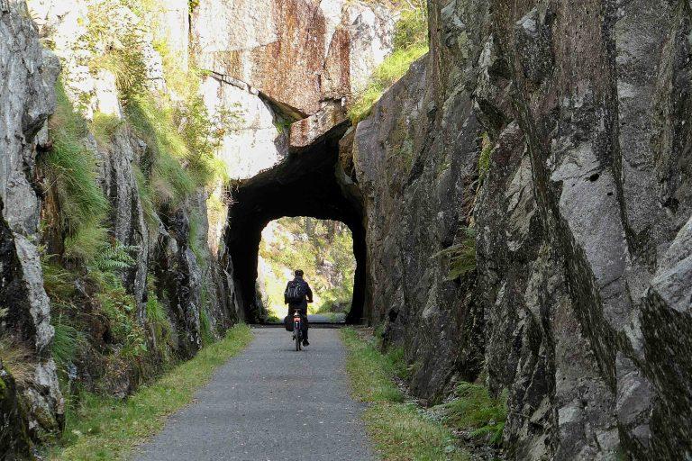 Vi er på helgetur i Norge og har en fantastisk fin dag på sykkel langs Den gamle Jærbanen.