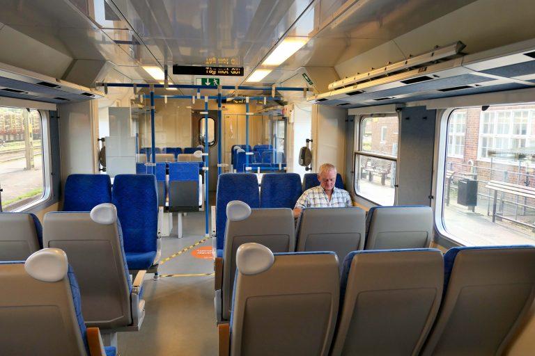 God plass om bord da vi tok vår sommertur med tog i Bohuslän.