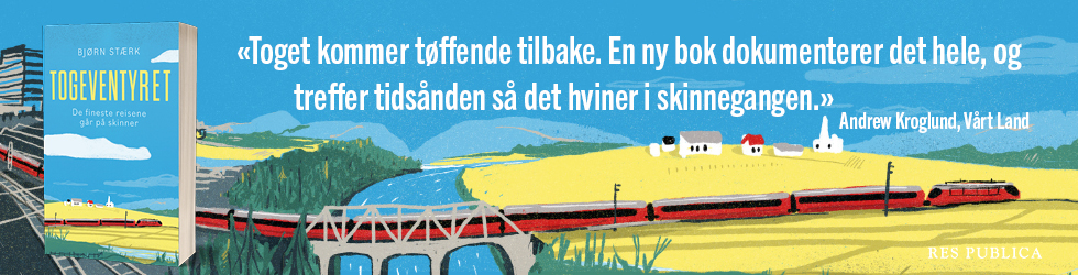 Annonse for boken Togeventyret
